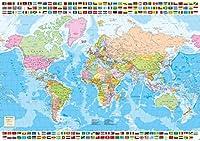 ZXYDDMW 500ピースジグソーパズル 世界地図。屋内活動教育インテリジェンスゲーム家の装飾