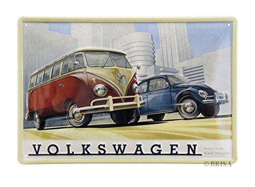 BRISA VW Collection Volkswagen T1 Bus Transporter & KeverMetalen bord 30x20cm