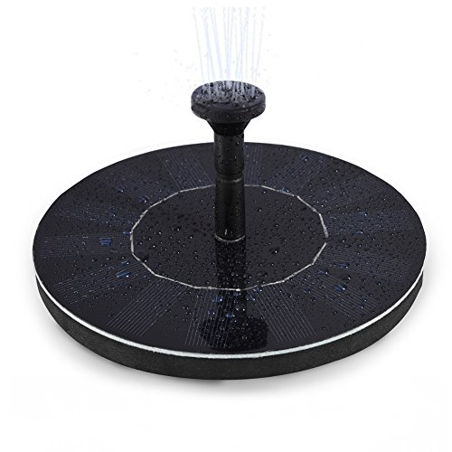 LEDGLE 1.4W Bomba de Fuente Solar, Bomba de Agua de Fuente Flotante Respetuosas del Medio Ambiente para Patio, Flujo 150L / H