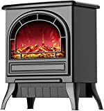 Living Equipment Chimenea eléctrica Chimenea de calefacción con llama realista - Potente sistema de calentamiento rápido 3S de 1800 W para uso en interiores en la oficina con protección contra sobr