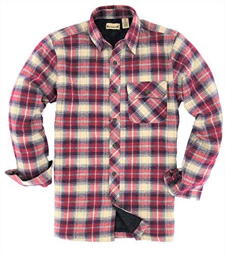 Backpacker Men's Flannel/Quilt Lined Shirt Jacket, Independent, XX-Large