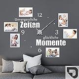 DESIGNSCAPE Wandtattoo Uhr Unvergessliche Zeiten mit Fotorahmen | Wandtattoo für...