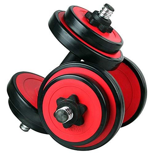 Dumbbells, Attrezzature per Il Fitness Multifunzione Rimovibile, Attrezzature per Esercizi in Gomma Naturale per Uomo e Donne (Color : Red)