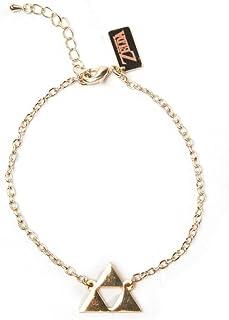 The Legend of Zelda Wristband Triforce Logo Bracelet Gold