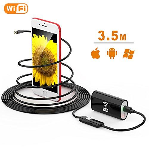 Wireless Endoscope, TUSAZU 2 Megapixels HD Wifi USB Borescope, IP67 Waterproof Inspection...