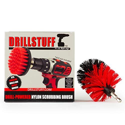 Drillstuff fregadero de cocina, Pan, Pot y utensilios de limpieza cepillo accesorio para taladro cepillo mini taladro red-rígido