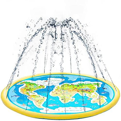 MWXFYWW Splash Pad Impermeable, Juguete para Niños-Splash Pad de Juego PVC, Tapete de Aprendizaje para Niños 3+ Años, Alfombra de Agua para Actividades Juegos Aire Libre