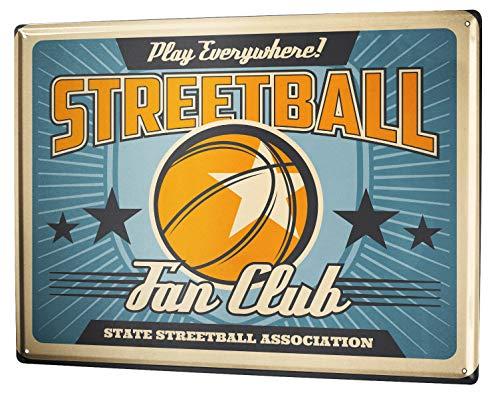 LEotiE SINCE 2004 Blechschild Nostalgie Basketball Streetball