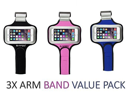 SANOXY 3x VALUE PACK Best Running Armband for iPhone 5/5s and iPhone 6 (MIX COLORS)