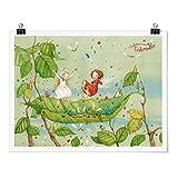 Bilderwelten Poster Erdbeerinchen Erdbeerfee Trampolin - Selbstklebend seidenmatt 75x100cm