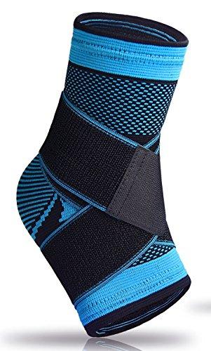 U-pick Socke mit Fußgewölbe, Knöchelbandage, bei Plantarfasziitis, lindert Schwellungen, zur Unterstützung der Achillessehne und des Knöchels, mit Kompressionseffekt, bei Fersensporn, 1 Stück, blau