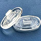 Eyeglasses Nose Pads 15mm 6 Pairs Oval Pushin Push in Soft Silicone Oval Shaped Slide in Nose Pads Nosepads for Glasses Eyeglasses Sunglasses 15mmx8mm