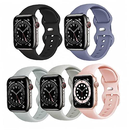 Froiny 5pcs Watch Band Soft Silicone Watch Sport Reemplazo Correa Compatible con Serie Relojes 6 5 4 3 2 1 para Hombres Hombres