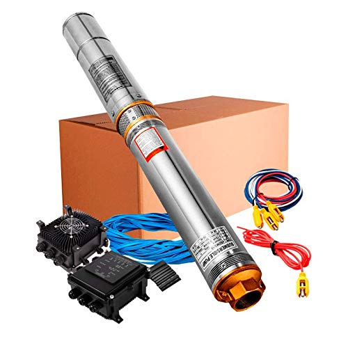 Bomba de agua Solar Sumergible 550W 750W 1100W (550W 3/4CV)