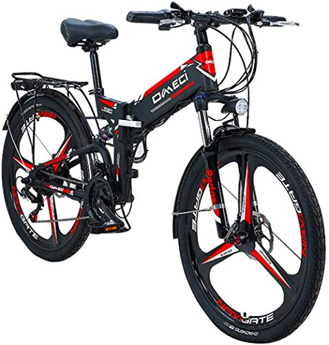 Electric Bike Electric Mountain Bike, Urban Commuter Electric Bicycles Adult Beach Snow Ebike Electric Mountain Bicycle With 48V 10AHRemovable Lithium-ion Battery 300W Power Motor for the jungle trail