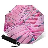 美しいピンクの壁紙 自動三つ折り傘折りたたみ傘 自動開閉 頑丈な12本骨 メンズ 台風対応 梅雨対策 大きい 超撥水 おりたたみ傘 高強度グラスファイバー ビッグサイズ 晴雨兼用 収納ポーチ付き As Shown One Size