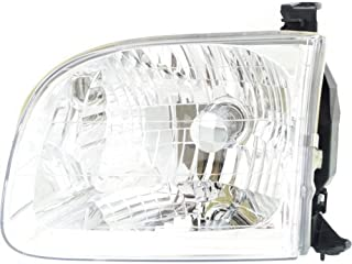 Headlight Headlamp Compatible with 2001-2004 Toyota Sequoia Tundra Double Cab Driver Left Side Replacement