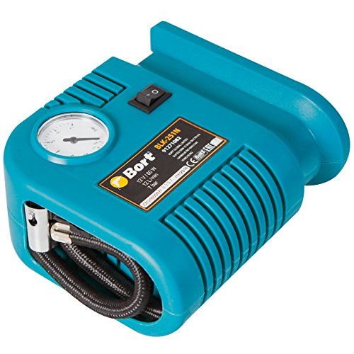 Bort Auto Kompressor BLK-251N 12 V, 12 Liter/Minute, Anschluss über Zigarettenanzünder, inkl. 3 Zusatzadapter