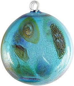 Bola de Navidad – Azul Murrina Fantasy – Cristal de Murano Original OMG