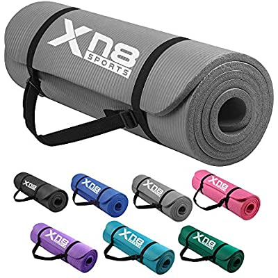 Yoga Mat For Pilates Gym Exercise Non Slip Carry Strap 15mm Thick Comfortable UK
