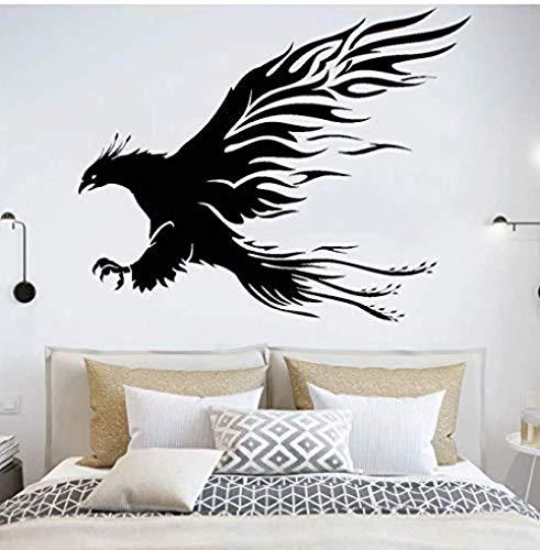 Phoenix vinilo pared pegatina animal calcomanía cuento de hadas pájaro garra decoración del hogar sala de estar decoración pata Mural llama tenedor pata 70 * 57C m