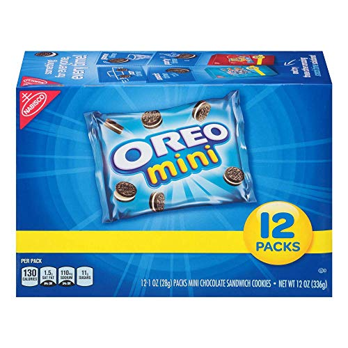 Oreo Mini Chocolate Sandwich Cookies, 12 Count Individual Snack Bags (Pack of 4)