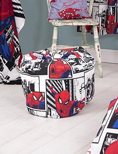 Disney Spiderman Kinder-Sitzsack, ideal für das Kinderzimmer oder Spielzimmer, 50x 65cm, Rot