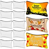 Halloween Cosmetic Bags Multipurpose Sublimation Blanks DIY Heat Transfer Makeup Bags Canvas Pen Case Pencil Bag Iron on Transfer Zipper Canvas Pouch Toiletry Pouch, 9 x 6 Inch