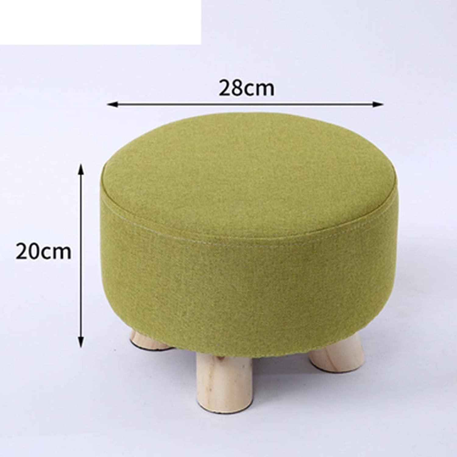 RHHWJJXB Garden Wooden Stool Round shoes Change shoes Stool Home Door Bearing Dengzi American Style Small Stool (color   F)