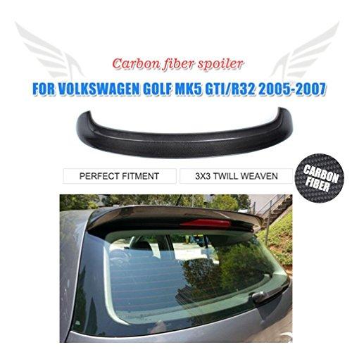 JCSPORTLINE Karbonfaser Schwarz hinten Dachspoiler Top Flügel für MK5 Golf 5 V GTI 2005-2007