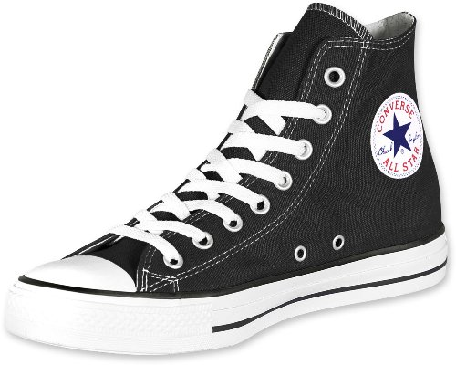 Converse Chuck Taylor All Star Classic High Top, Sneaker Unisex-Adult, Black, 42 EU