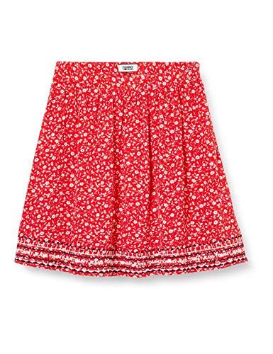 Tommy Hilfiger Tjw Embroidery Detail Skirt Falda, Rojo (Flor