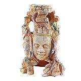 POPETPOP Escultura de Cabeza Ornamentos de Acuario Peces Camarones Que Ocultan La Cueva Creativa de Los Peces Betta Hideout Acuario Paisaje de Montaña para La Decoración del Tanque de