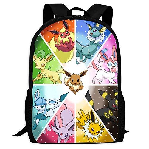 BEKAI E-evee Evolution Cartoon | School Bags Multiple Pockets Backpack for Kids/Youth/Boys/Girls