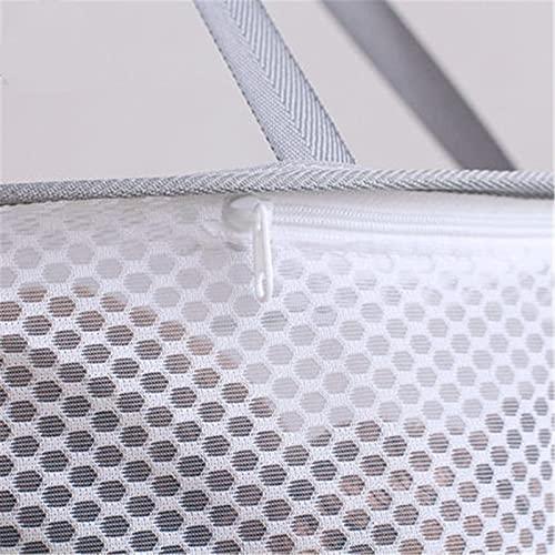 CHENSHJI Tendedero de Ropa de Malla Ropa Cesta Ropa Red Secado Ropa Red Piso Bolsa Negal Secado Calcetines Artifact Suéter Secado Neto (Color : Gris, Size : Single Layer)