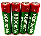 Lithium Ion Battery Rechargeable Batteries AAA Rechargeable Battery 8800Mah AAA 1 5V New Alkaline 1 5V 4Pcs