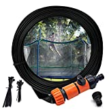 Trampoline Sprinkler, Outdoor Water Park Sprinkler for Kids Summer Fun, Outside Water Toy Attached on Trampoline Safety Net Enclosure(39ft)