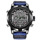 UINGKID Herren Uhr analog Quarz Armbanduhr wasserdicht Uhren 2019 Men Nylon Band Watch Hochwertige Quarzwerk Men Sports Casual Watch