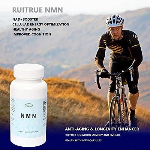 516XyzN2Q5S. SL500  - Ruitrue NMN Nicotinamide Mononucleotide Supplement NAD Supplement Life Extension NMN Content 150mg per Capsule Anti Aging Supplement Longevity Vitamins (1 Pack 60 Capsules)