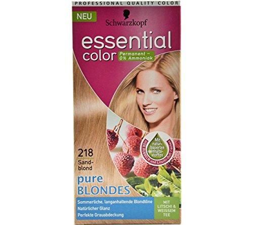 Schwarzkopf Essential Color Haarfarbe 218 Sandblond Pure Blondes