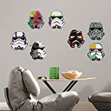 RoomMates RMK3591SCS Star Wars Artistic Storm Trooper Heads Peel And Stick Wall Decals,Multicolor