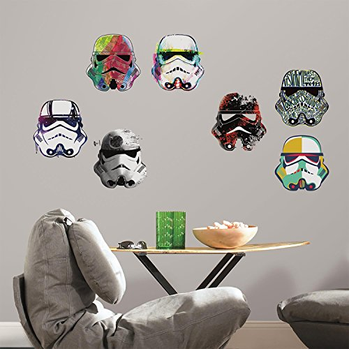 Stickers Repositionnables Star Wars Artistic Têtes de Storm Trooper
