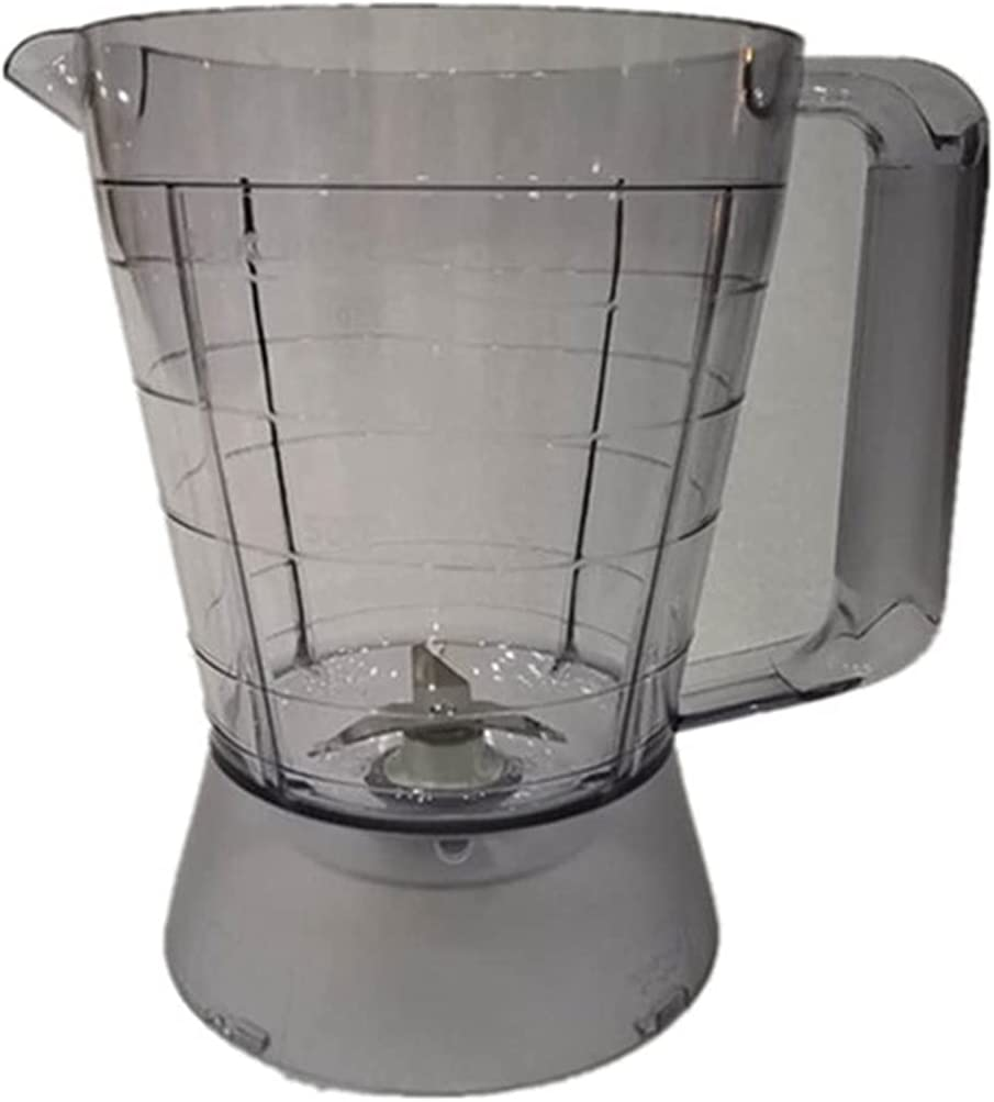 XUNLAN Durable plástico mezclador jarra taza mezclador cuchillo adecuado para Philips HR2052 HR2056 HR2058 HR2062 licuadora piezas accesorios usable