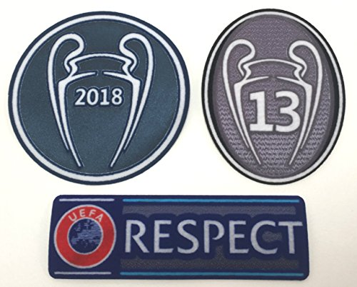 Real Madrid - Parche de fútbol 2018-2019 La Tredecima camiseta de fútbol, parches de la Liga de Campeones Trofeo 13 Copas Honor