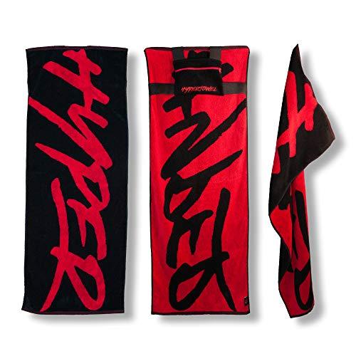 gofortytwo HYPERTOWEL Sporthandtuch mit Tasche, Design Fitnesshandtuch mit Flexfit Tasche, hochwertiges Baumwollhandtuch für Training & Sport