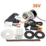 L-faster 24V36V250W Electric Conversion Kit for Common Bike Left Chain Drive Customized for Electric Geared Bicycle Derailleur (36VTwist Kit)