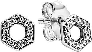 Pandora Pendientes de botón Mujer Plata ley 925 No aplicable - 298800C01