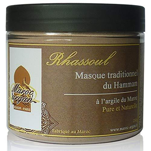 Rasul - Arcilla Purificadora de Marruecos 100% naturales - Piel y Mascarilla para el pelo - 250g