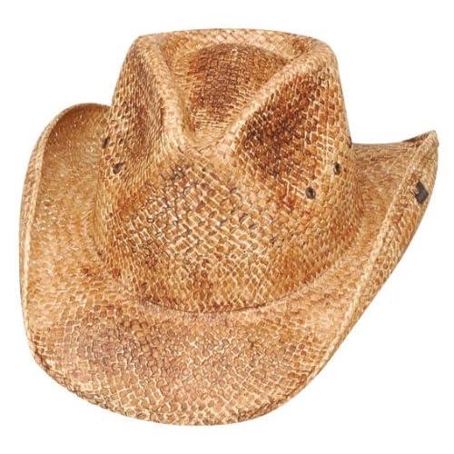 4c9bc8f9bcdb7d Peter Grimm Natural Straw Maverick Drifter Cowboy Hat