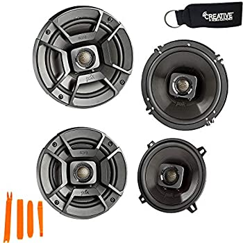 Polk Audio - A Pair of DB652 6.5  Coaxial and A Pair of DB522 5.25  Speakers - Bundle Includes 2 Pair